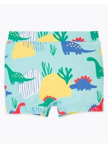 Marks & Spencer Dinozor Desenli Mayo Yeşil